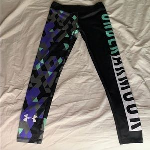 Big girls Under Armour workout pants